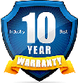 10 Year Warranty - Industry Leader