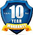 10 Year Warranty - Industry Leader