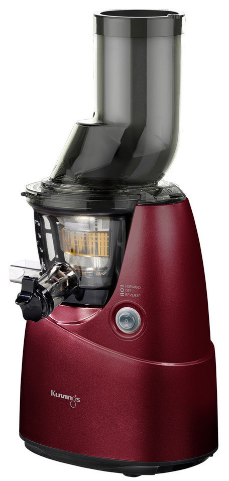 Kuvings Whole Slow Juicer Red : Kuvings Whole Slow Juicer B6000S - vertical Single Auger Juicer with 3