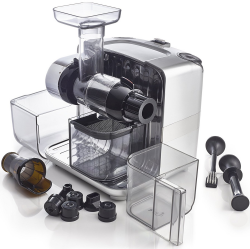 Omega Cube Juicer with all parts shown