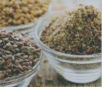 Ground seeds powders like flax and chia powder