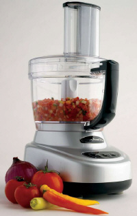 Omega FoodPro making Pico De Gallo
