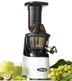 Omega Mega Mouth Slow Juicer : Omega Mega Mouth Slow Juicer MMv700S- Cold Press Slow Juicer with 3