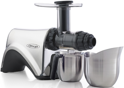 Omega NC900ss is the first Omega Juicer to include 100% stainless Steel juice and pulp collection cups