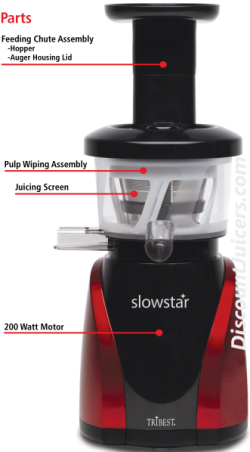 Slowstar Juicer : Tribest Slowstar SW-2000 47 RPM vertical Upright Single Auger Juicer