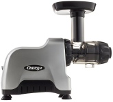 the Omega CNC80S Compact Travel Juicer with 15 year warranty
