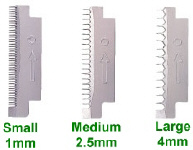 Includes three different blades for four different style cuts