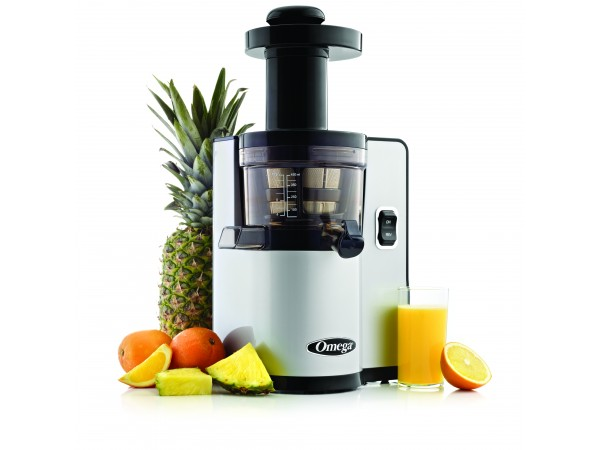 Omega Vert Slow Juicer Vsj843qs : Omega vERT vSJ843 vertical vSJ843 silver juicer- Latest vertical Slow Juicer from Omega.